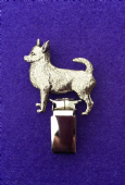 Dog Show Breed Ring Number Clip - Chihuahua (Smooth Coat) - FULL BODY Silver or Gold Style